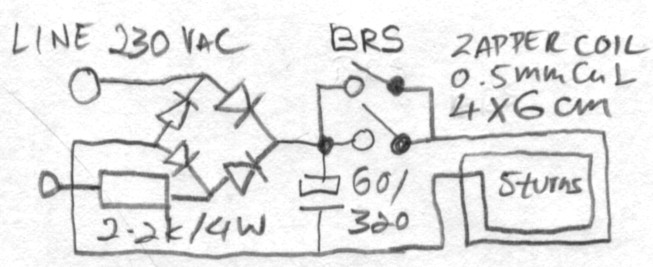 electronic zapper circuit diagram